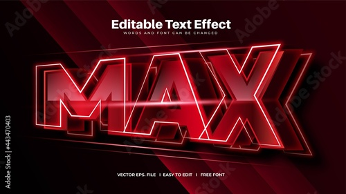 Photo Red Bold Max Editable Text Effect