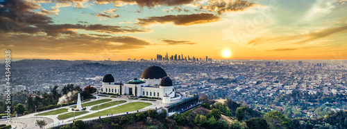 Los Angeles Griffith Observatory sunset