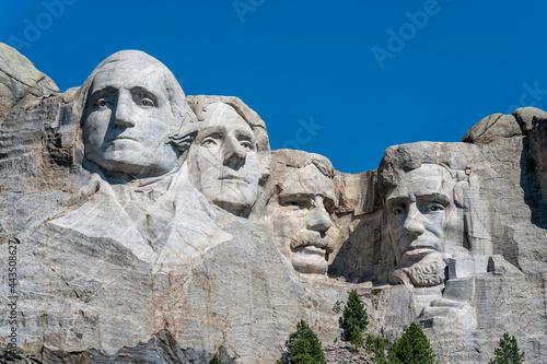 Stampa su Tela Mount Rushmore close up view, presidents sculpture in South Dakota