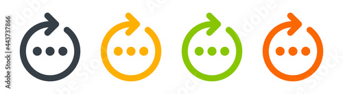 Fotografie, Obraz Work in process icon vector illustration.