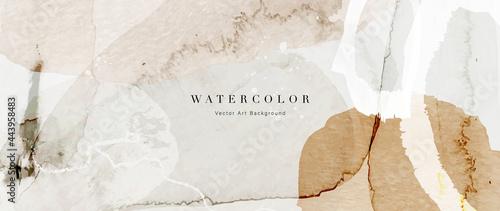 Obraz na plátně Watercolor art background vector