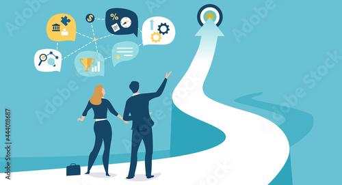Obraz na plátně Planning successful business strategy