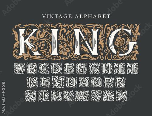 Obraz na plátně The word KING