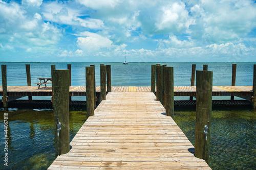 Fotografija Boat dock along the beautiful Florida Keys
