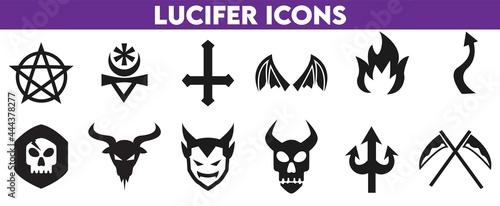 Photo set of lucifer icons