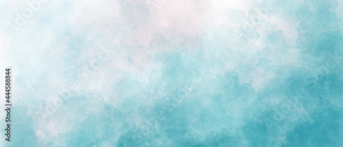 light blue sky gradient watercolor background with clouds texture