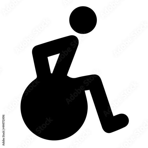 Canvas Wheelchair vector icon eps 10