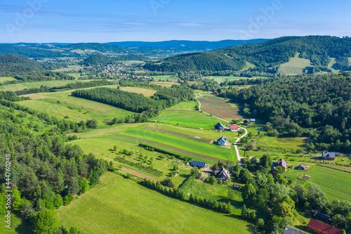 Fototapeta premium Wieś Tyrawa Solna