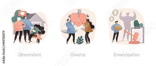 Fotografia Family roles abstract concept vector illustrations.