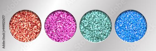 Fotografia, Obraz Eye Glitter Eyeshadow Tinsel Shimmer, Lipstick or Powder