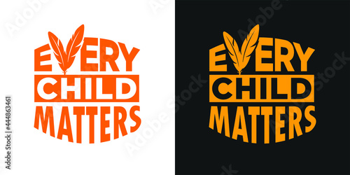 Fotografie, Obraz Every Child Matters and Orange Shirt Day Canada