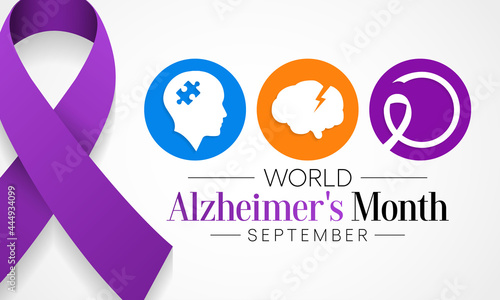 Fotografia, Obraz World Alzheimer's Month is observed every year in September,  it is a progressive disease, where dementia symptoms gradually worsen over a number of years
