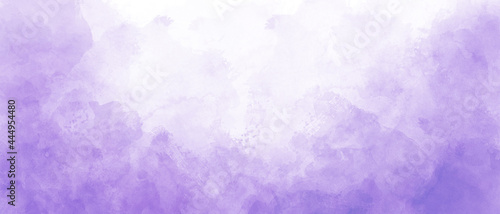 purple watercolor background with clouds texture