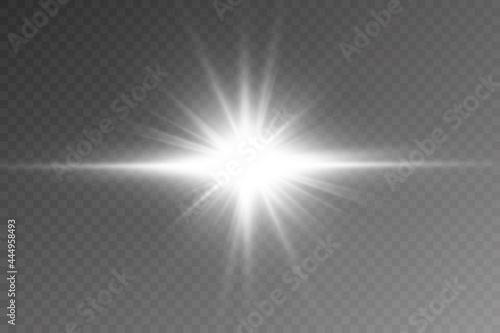 Fototapeta Vector transparent sunlight special lens flare light effect