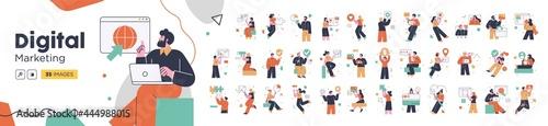 Photo Social Media Marketing illustrations