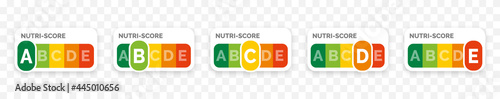 Fotografia Nutri-score icons set