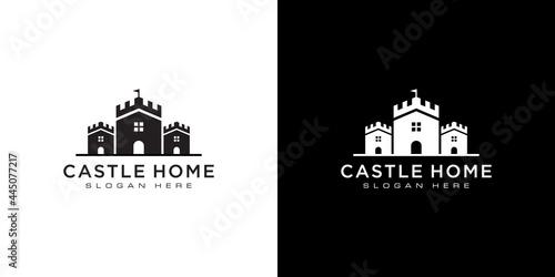 Fotografia, Obraz castle and home logo vector design