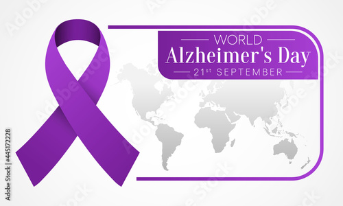 Fotografie, Tablou World Alzheimer's day is observed every year on September 21,  it is a progressive disease, where dementia symptoms gradually worsen over a number of years