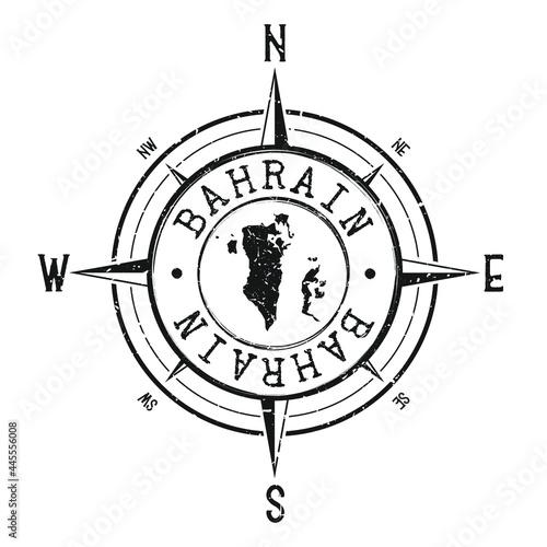 Valokuva Bahrain Stamp Map Compass Adventure
