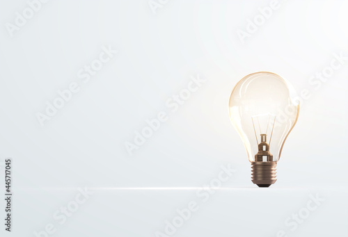 Canvas Print Light bulbs that grow, in the concept of energy in nature.