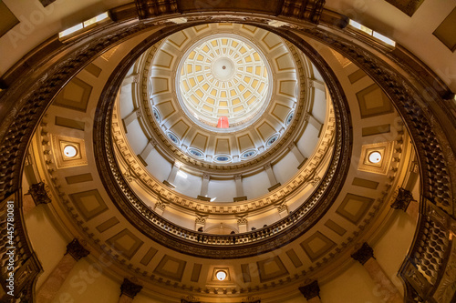 Photo Looking Up At the Dome in the Capitol Building, Denver, Colorado, USA