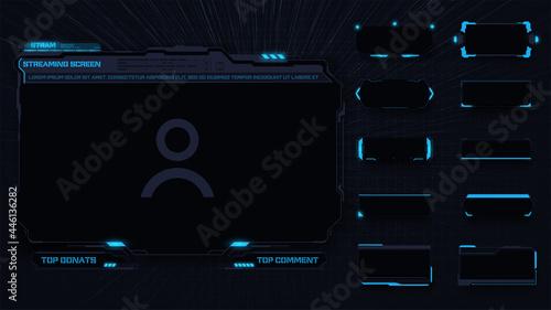 Fotografia A modern frame theme for streaming panel screen