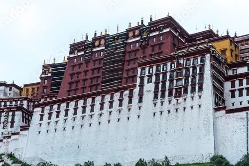 Fotografie, Tablou LHASA, TIBET - AUGUST 17, 2018: Magnificent Potala Palace in Lhasa, home of the Dalai Lama before the Chinese invasion and Unesco World Heritage Site