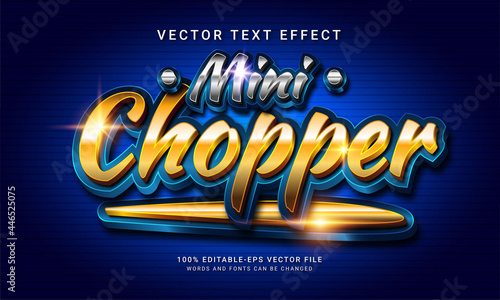 Fotografering Mini chopper 3d editable text style effect