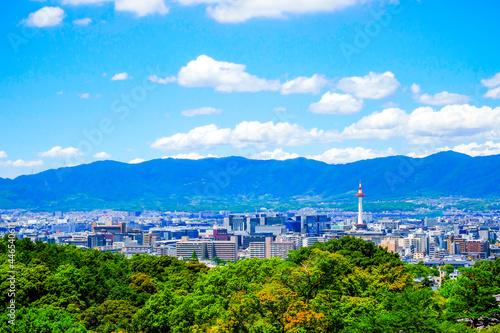 Stampa su Tela 京都市の街並み 展望