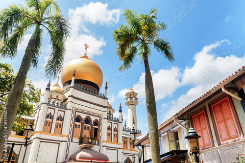 Canvas Print Beautiful view of Masjid Sultan (Sultan Mosque) at Singapore