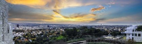 Obraz na płótnie Los Angeles Skyline from Hollywood hills