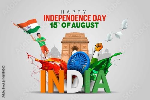 Fotografia happy independence day India