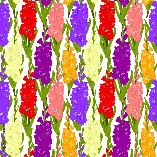 Wallpaper Mural Floral seamless pattern against white background