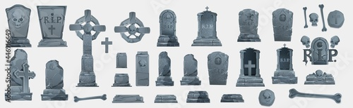 Obraz na plátne Gravestones set