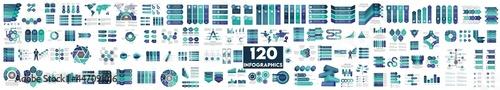Valokuva The Biggest Infographics Bundle Ever - includes 120 presentation templates