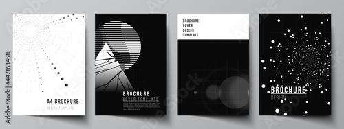 Obraz na plátne Vector layout of A4 cover design templates for brochure, flyer layout, booklet, cover design, book design