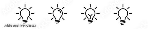 Foto lamp bulb idea icon