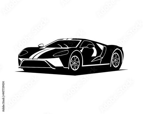 Платно Illustration of sport car Lamborghini