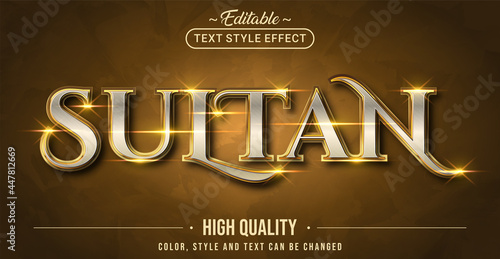Photo Editable text style effect - Sultan text style theme.