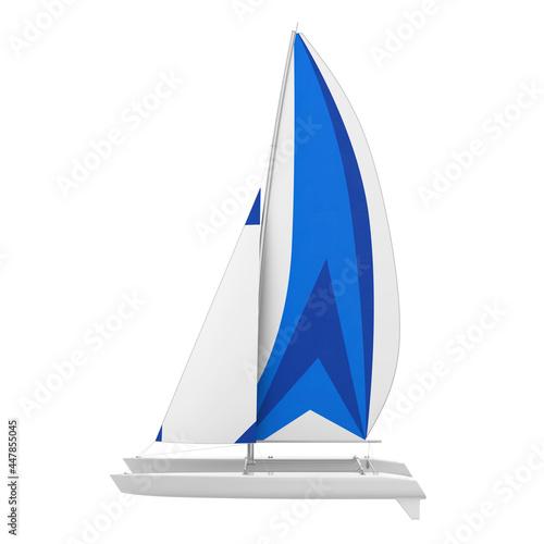 Sport Catamaran Boat Isolated Poster Mural XXL