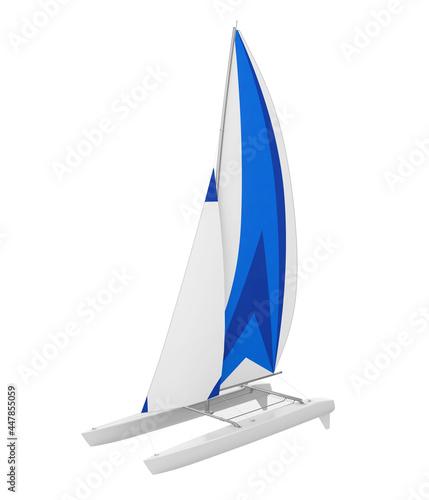 Photographie Sport Catamaran Boat Isolated