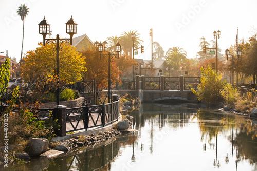 Fényképezés Afternoon autumn view of a public park in downtown Bakersfield, California, USA