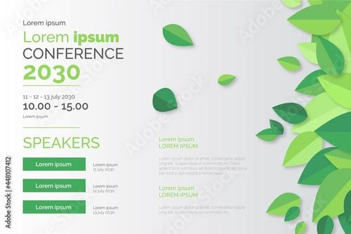 Obraz na płótnie ecology conference poster template design vector illustration