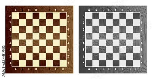 Tablou Canvas Two empty chess board