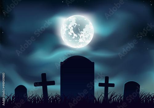 Fotografija Graveyard at night
