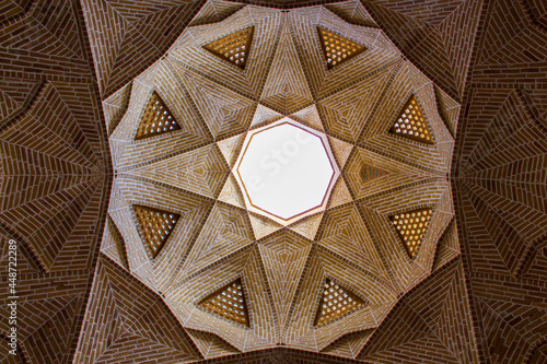Canvas detail of the ceiling of an old building in Iran