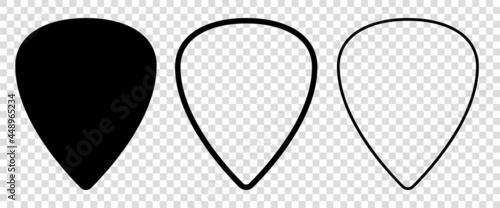 Fotografie, Obraz Set of blank solid and line guitar picks