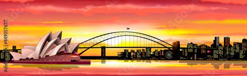 Fotografie, Obraz Sydney Australia cityscape