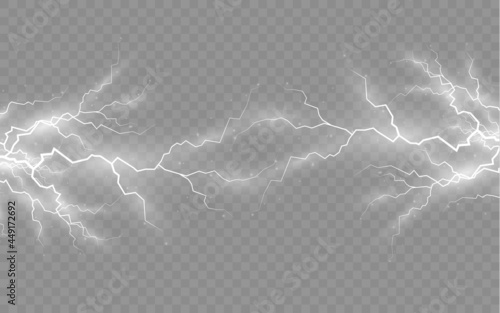 Photo Effect of lightning, lighting, set of zippers.