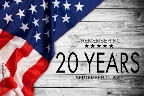 Fotografiet Remembering the 20 Years of 9 11, Patriot day